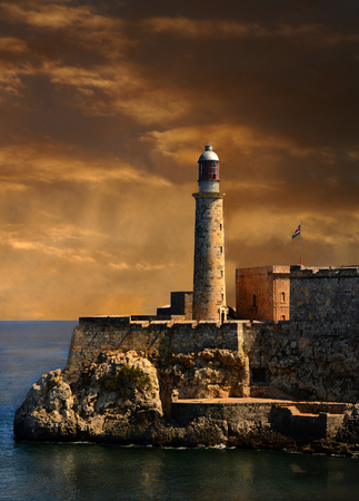 Beautiful Image of the Old fort guarding the entrance to Havana.