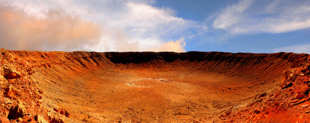 Beautiful Image of the great meteor Crater in Arizona Banco de Imagens - 92598655