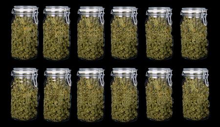 12 Very Nice 3 Ounce Jars Of Indica Marijuana with High CBD content