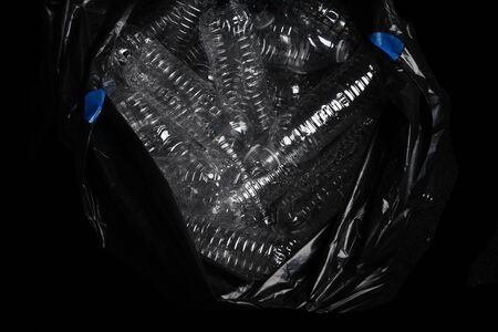 A Huge Garbage Bag Full Of Plastic Bottles