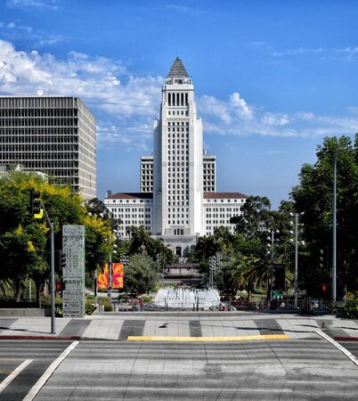 Image Of a beautiful Sunny Day, Downtown los Angeles Imagens