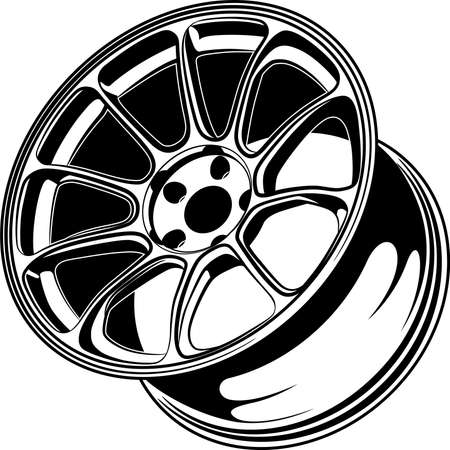 Car Wheels/Rims Illustration For Conceptual Design.