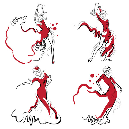 Flamenco dance elements.