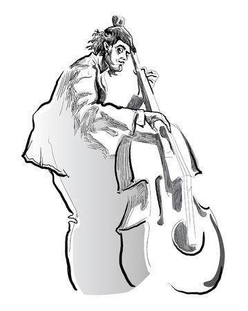 Musicians of jazz Vector sketches.