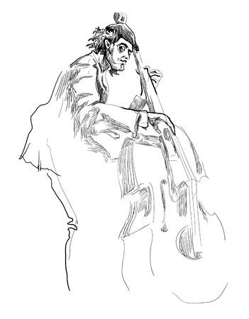 sketch sketches: Musicians of jazz Vector sketches.