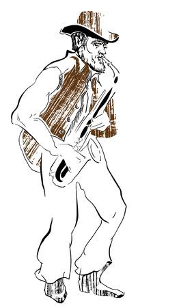 musicians: Musicians of jazz Vector sketches.