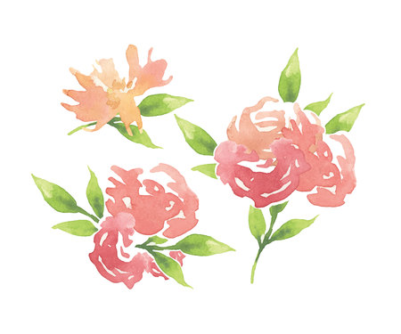 vintage pattern background: Hand made drawing flowers for card. Vector illustration.