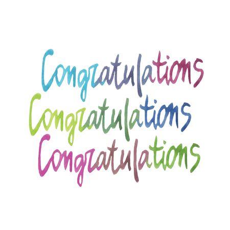 congratulations: Caligrafía