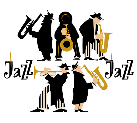 contrabass: Musicians design concept set with pop rock jazz classical music players. Isolated flat vectors. Easy editable elements. Isolated on white background. Trumpet, violin, contrabass.