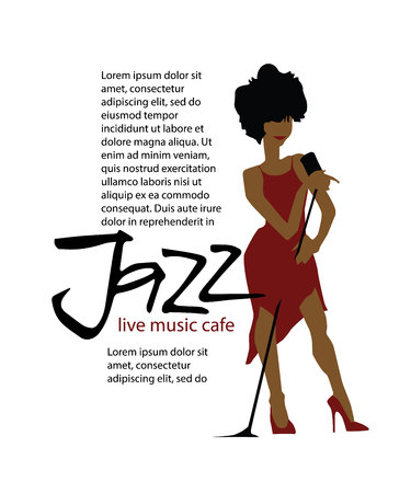 clarinet player: Musicians design concept set with jazzl music players. Isolated flat vectors. Woman singer. Vocalist. Use for jazz festival poster, jass club, live music cafe and web design.