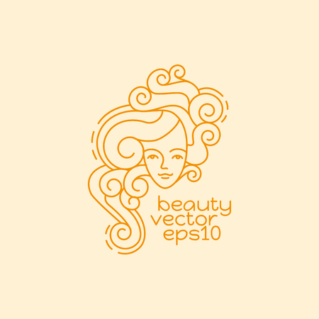 Beauty design template. Linear abstract style. Usage for beauty salon or cosmetics products.