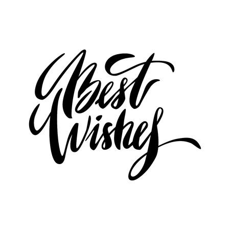 Modern brush calligraphy inscriptions. Brush lettering card