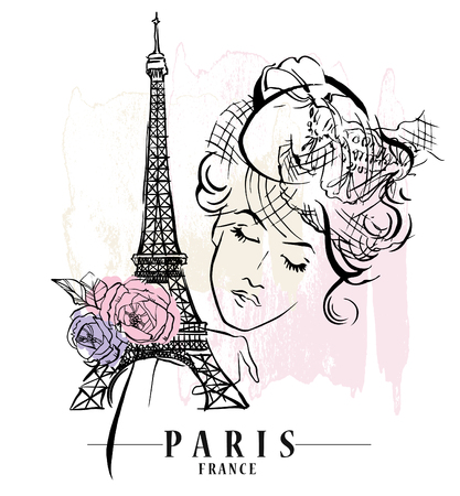 Paris vector illustration. Illustration