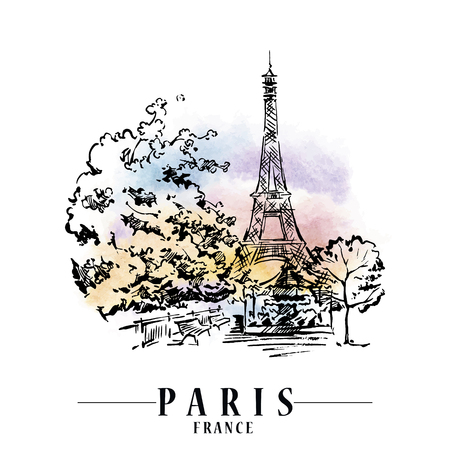 Paris vector illustration. Ilustracja