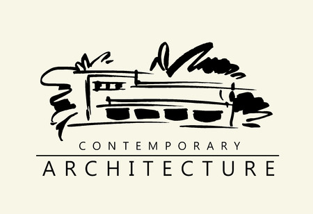 House illustration. Architecture project logo.