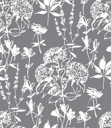 Floral seamless pattern design 일러스트