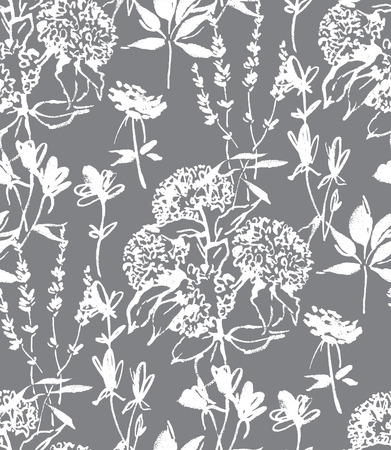Floral seamless pattern design Illustration