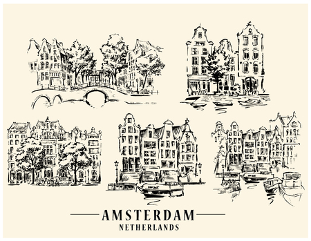 Amsterdam architectural sketch.