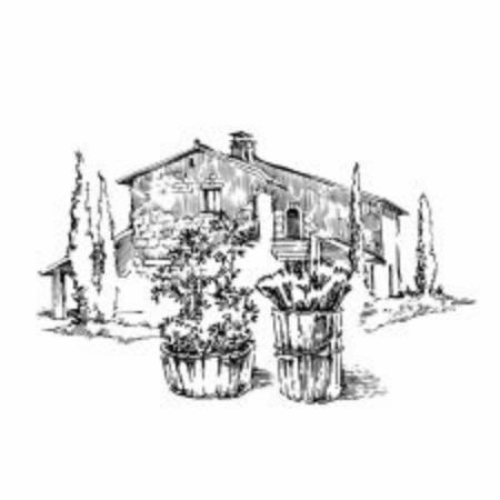 Hand made sketch of old street. Line art vintage style illustration.