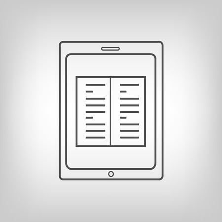 touchpad: Touchpad with book image. E-book or learning idea