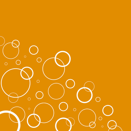 grahic: Abstract background with white circles on orange background Illustration
