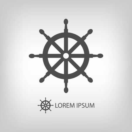 dockyard: Helm as logo with copyspace in grey colors