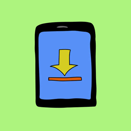 touch pad: Doodle style touch pad with upload sign