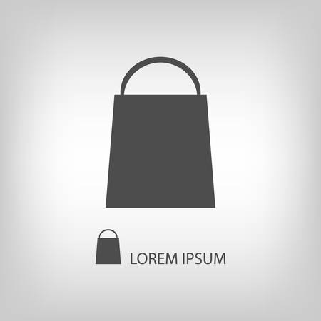 copyspace: Shopping bag with copyspace in grey colors