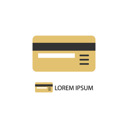 Plastic card as  with copyspace. Non-cash payment Illustration