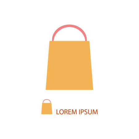 copyspace: Orange shopping bag as  with copyspace