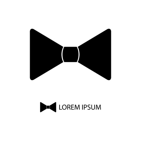 Black bowtie . Formal and festal clothing