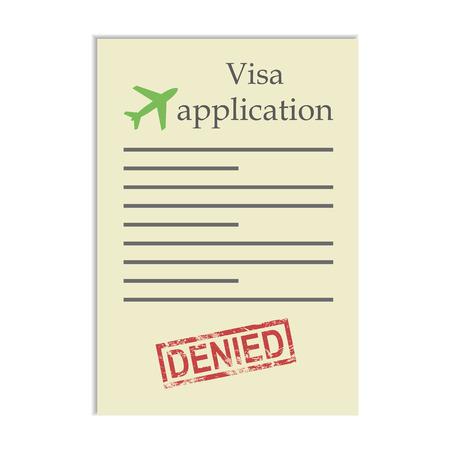 denied: Solicitud de visado con el sello negado. Conseguir negativa a ir ir de viaje en el extranjero