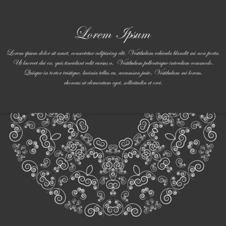 Black and white design with round ornate vintage style pattern Vector