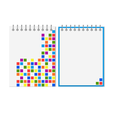 spiral notebook: Spiral notebook with colorful geometric pattern on cover