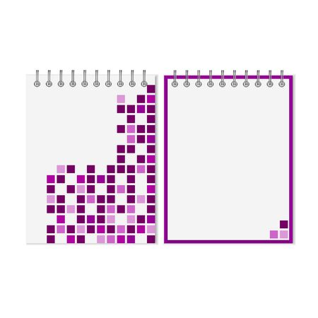 spiral notebook: Spiral notebook with purple geometric pattern on cover