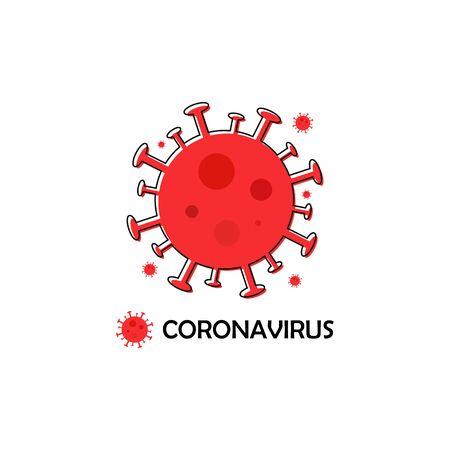 Covid-19 illustration on white background. Coronavirus pandemic Stock Illustratie