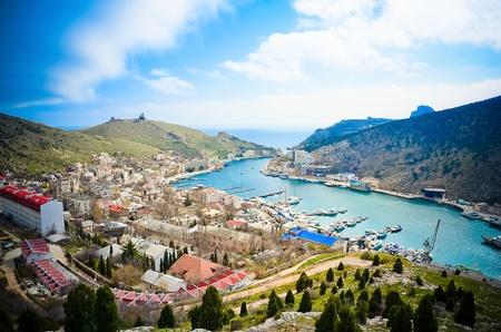 Bird-eye look of  Balaklava in Crimea
