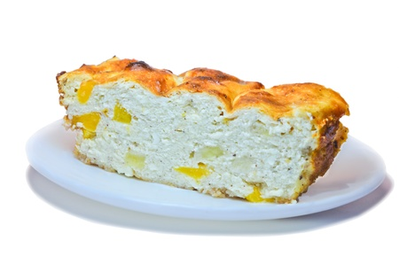 A piece of curd casseroles photo