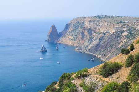 View of the bay in Crimea photo