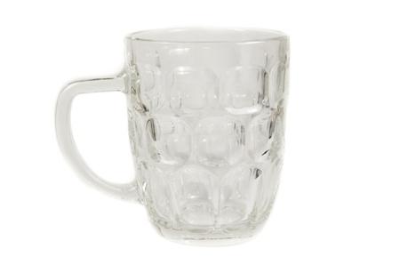 Close up of isolated empty glass mug