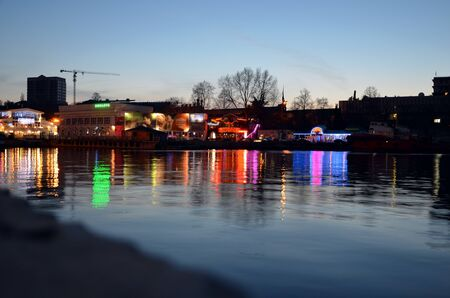 Background of Sevastopol bay in evening in summer