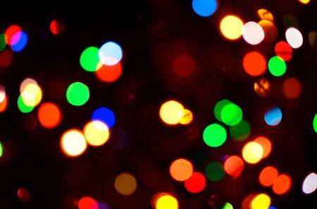 Beautiful colorful defocused bokeh background Stock Photo