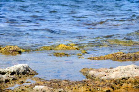 stones over ocean in summer.Sevastopol, Crimea