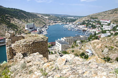 Background of Sunny Balaclava in summer.Crimea