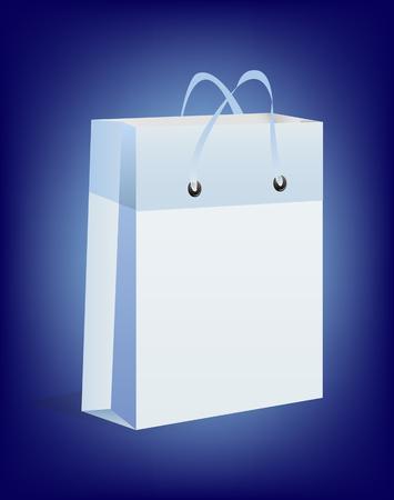 blue gift box: Blue Gift box isolated over white background Illustration