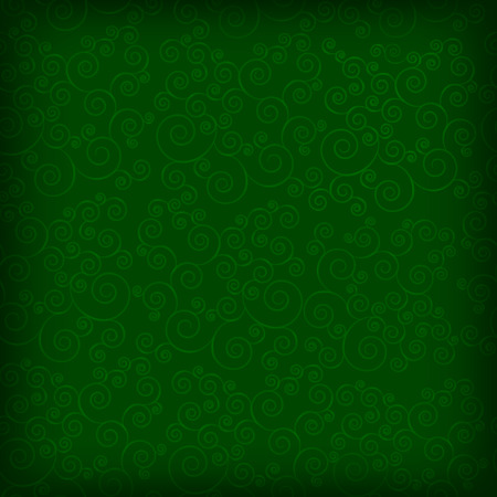 pinstripes: Abstract seamless background with curls over green background