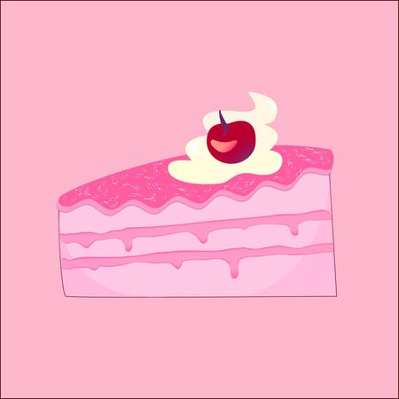 chocolate swirl: Peace of tasty pink cake