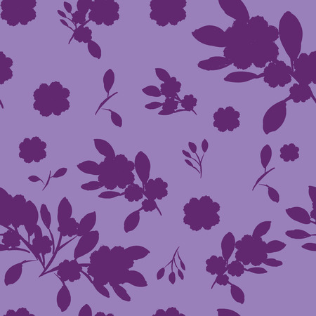 Abstract seamless pattern of cute hand painted simple flowers %uFFFD
