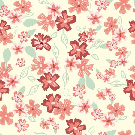 Abstract seamless pattern de la main mignon peint des fleurs simples?