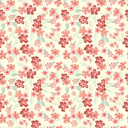 pattern: Abstract seamless pattern of cute hand painted simple flowers? Illustration